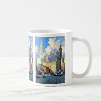 Hudson River Waterfront - Colin Campbell Cooper Classic White Coffee Mug