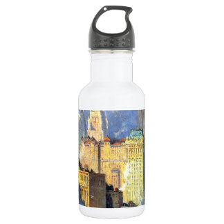 Hudson River Waterfront - Colin Campbell Cooper Stainless Steel Water Bottle