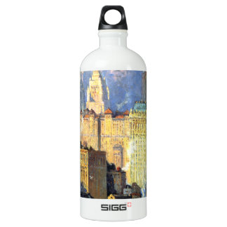 Hudson River Waterfront - Colin Campbell Cooper Water Bottle