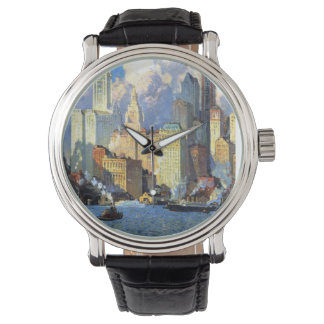 Hudson River Waterfront - Colin Campbell Cooper Wristwatch