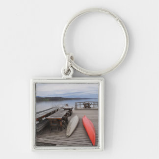 Hudson River with Canoes Keychain