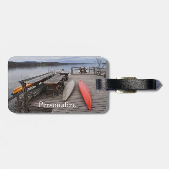 Hudson River with Canoes Luggage Tag
