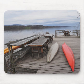 Hudson River with Canoes Mouse Pad