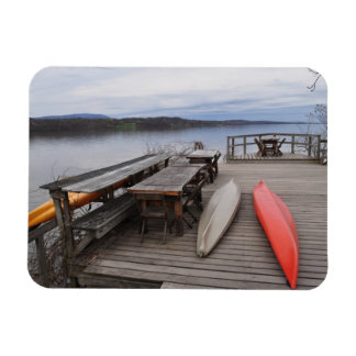 Hudson River with Canoes Rectangular Photo Magnet