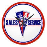 Hudson Sales and Service vintage sign clock Wallclock