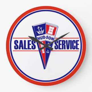 Hudson Sales and Service vintage sign clock