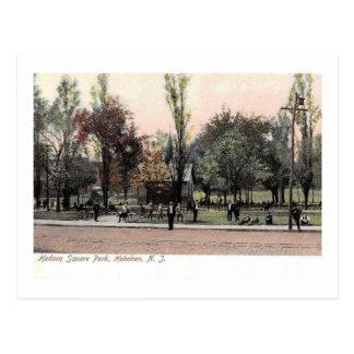 Hudson Square Park, Hoboken, NJ Vintage Postcard