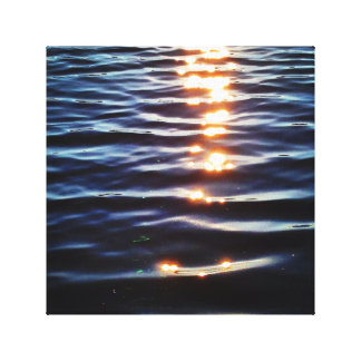 Hudson sunset reflections gallery wrapped canvas