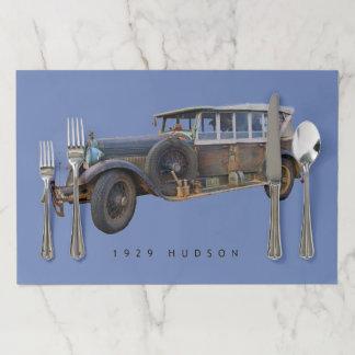 Hudson Tourer Vintage Car Paper Placemat