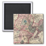 Hudson, Union, Essex Cos, NJ 2 Inch Square Magnet