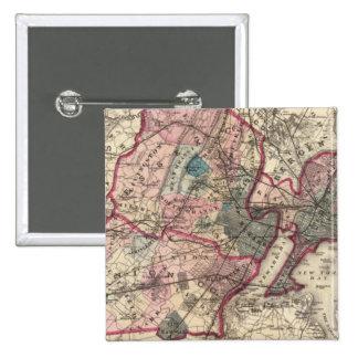 Hudson, Union, Essex Cos, NJ Pinback Button