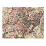 Hudson, Union, Essex Cos, NJ Postcard