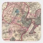Hudson, Union, Essex Cos, NJ Square Sticker