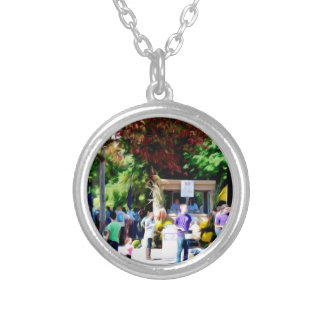 Hudson Valley Garlic Festival Silver Plated Necklace