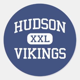 Hudson Vikings Middle School Hudson Ohio Classic Round Sticker