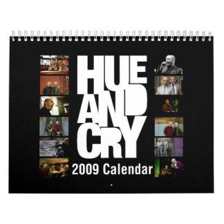 Hue and Cry 2009 Calendar