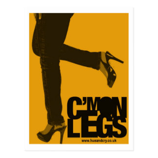 Hue and Cry - C mon Legs - Postcard