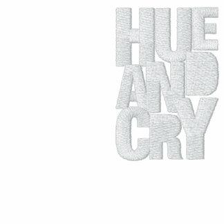 Hue And Cry - Embroidered -ZipHoodie(Ladies/Black) Embroidered Hoodie