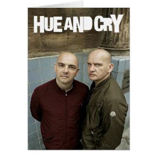 Hue and Cry - Greeting Card
