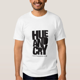 Hue and Cry - T-shirt (white)
