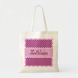 Hue of Pink Polka Dots Bride or Bridesmaid V31 Tote Bag