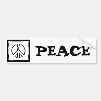 Hueco del signo de la paz etiqueta de parachoque