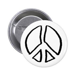 Hueco del signo de la paz pin