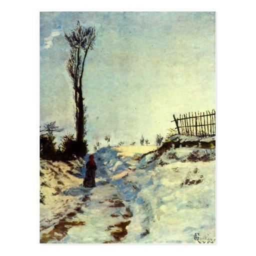 Hueco en la nieve postales
