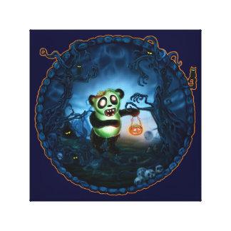 Hueco fantasmagórico de la panda del zombi impresiones en lona