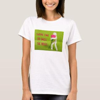 huela la camisa para mujer de los rosas