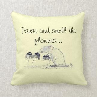 Huela las flores - almohada de MoJo del americano Cojín Decorativo