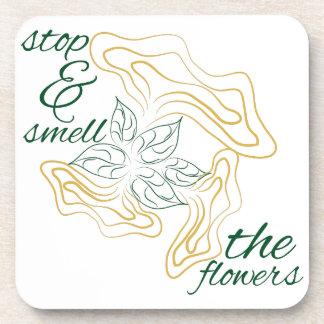 Huela las flores posavasos de bebidas