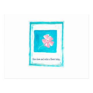 Huela las flores postales