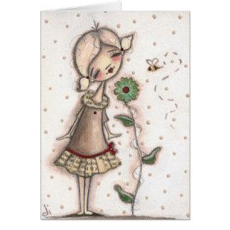 Huela las flores - tarjeta de nota