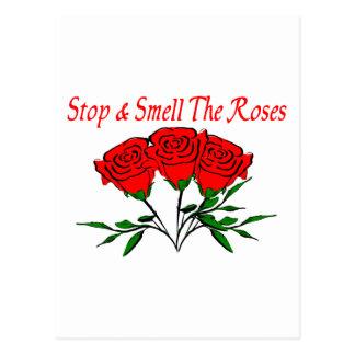 Huela los rosas tarjetas postales