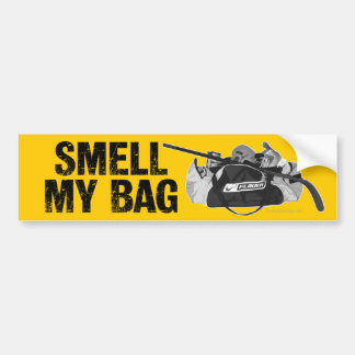 Huela mi bolso pegatina de parachoque