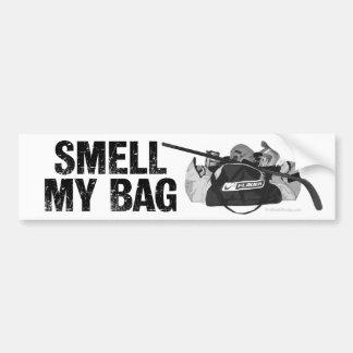 Huela mi bolso etiqueta de parachoque