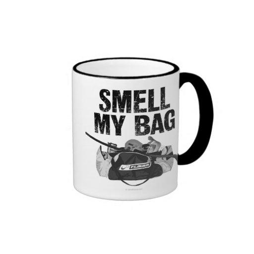 Huela mi bolso tazas de café