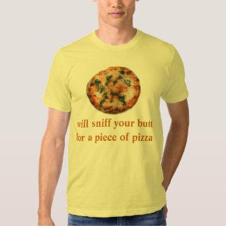 huela su extremo para un pedazo de pizza playera