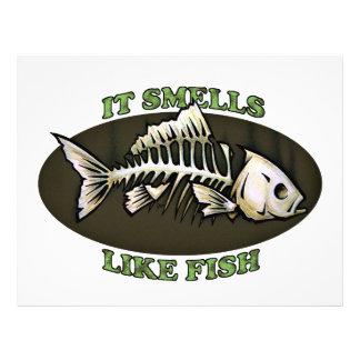 Huele como pescados plantilla de membrete