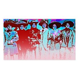 Huelga 1909 de las mujeres de la fábrica tarjetas de visita