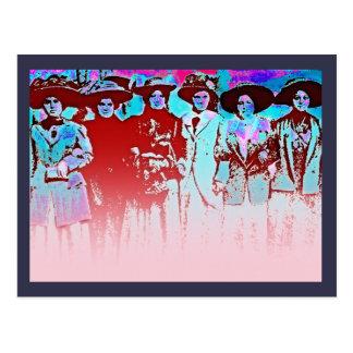 Huelga 1909 de las mujeres de la fábrica tarjetas postales