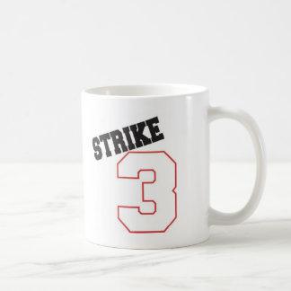 huelga 3 taza básica blanca