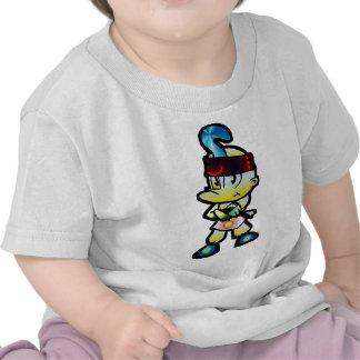 Huelga de la sombra del super héroe camiseta