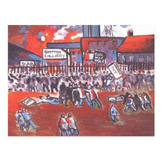 HUELGA DE LOS MINEROS DE CARBÓN CIRCA 1984 POSTAL