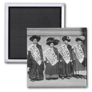 Huelga de los sastres de las señoras, 1910 imán cuadrado
