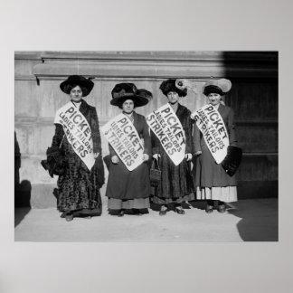 Huelga de los sastres de las señoras, 1910 póster
