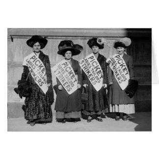 Huelga de los sastres de las señoras, 1910 tarjetas