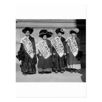 Huelga de los sastres de las señoras, 1910 tarjeta postal