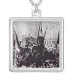 Huelga de muelle de Londres, 1889 2 Colgante Cuadrado